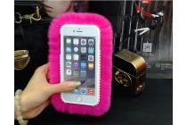 """Меховой пушистый чехол-панель для Huawei Mate 9 розовый  """"Пушистик"""""""