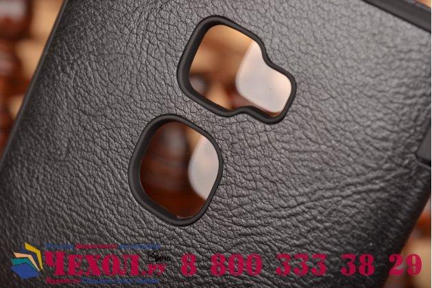 """Фирменный оригинальный чехол-кейс из импортной кожи Quick Circle для Huawei Mate S 5.5"""" с умным окном черный"""
