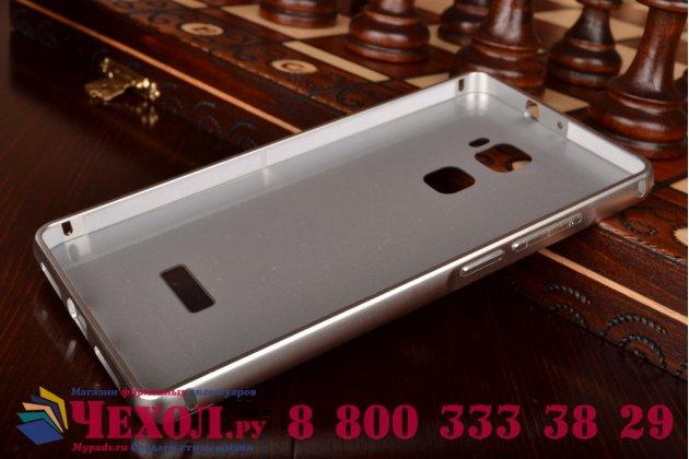 """Фирменная металлическая задняя панель-крышка-накладка из тончайшего облегченного авиационного алюминия для Huawei Mate S 5.5"""" серебристая"""