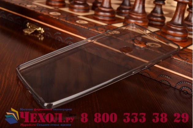 """Фирменная ультра-тонкая полимерная из мягкого качественного силикона задняя панель-чехол-накладка для Huawei Mate S 5.5"""" черная"""