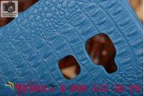 """Элитная задняя панель-крышка премиум-класса из тончайшего и прочного пластика обтянутого кожей крокодила для Huawei Mate S 5.5"""" морской-синий"""