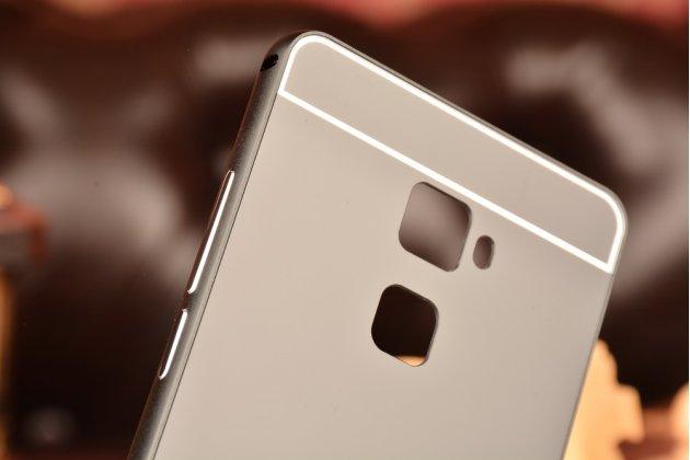 """Фирменная металлическая задняя панель-крышка-накладка из тончайшего облегченного авиационного алюминия для Huawei Mate S 5.5"""" черная"""