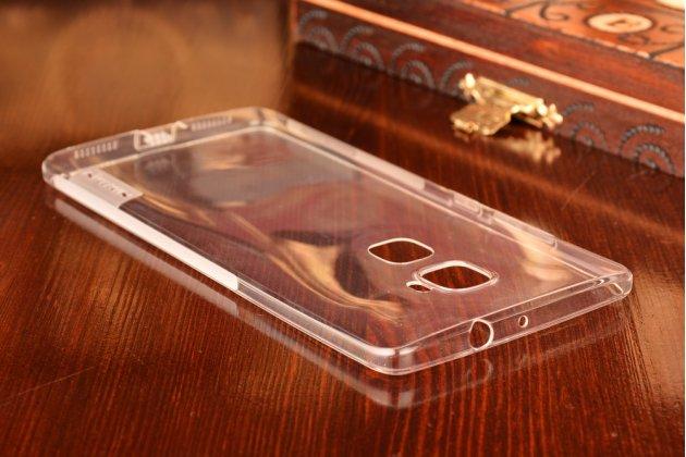 """Фирменная ультра-тонкая полимерная из мягкого качественного силикона задняя панель-чехол-накладка для Huawei Mate S (5.5"""") серебристая с защитными заглушками"""