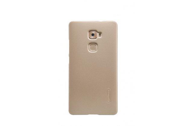 """Фирменная задняя панель-крышка-накладка из тончайшего и прочного пластика для Huawei Mate S 5.5"""" золотая"""