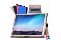 """Чехол для Huawei Matebook 12"""" (HZ-W09) золотой кожаный с держателем для руки"""