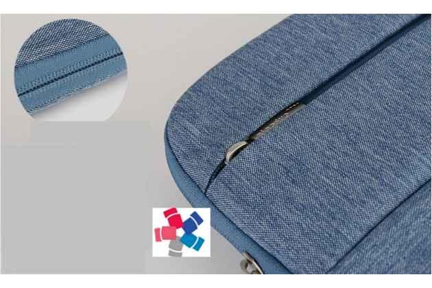 """Чехол-сумка-бокс для Huawei Matebook 12"""" (HZ-W09) с отделением для дополнительных аксессуаров из высококачественного материала- синий"""