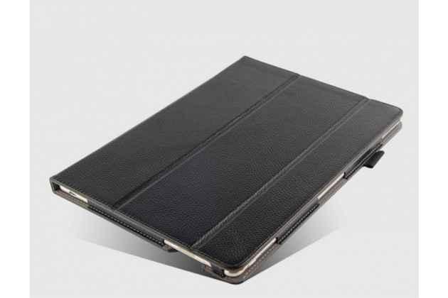 """Фирменный премиальный чехол бизнес класса для for Huawei Matebook 12"""" (HZ-W09) из натуральной качественной импортной кожи """"Ретро"""" черный"""