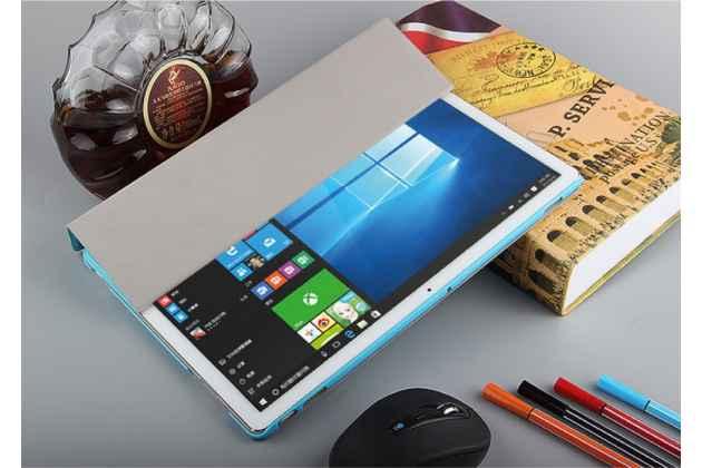 """Фирменный умный тонкий чехол обложка для Huawei Matebook 12"""" (HZ-W09) """"Il Sottile"""" голубой пластиковый"""