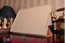 """Фирменный умный тонкий легкий чехол для Huawei Matebook 12"""" (HZ-W09) """"Il Sottile""""золотой пластиковый"""