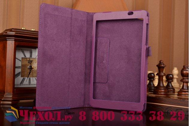Чехол для Huawei MediaPad M2 8.0 LTE (M2-801W M2-803L) фиолетовый кожаный