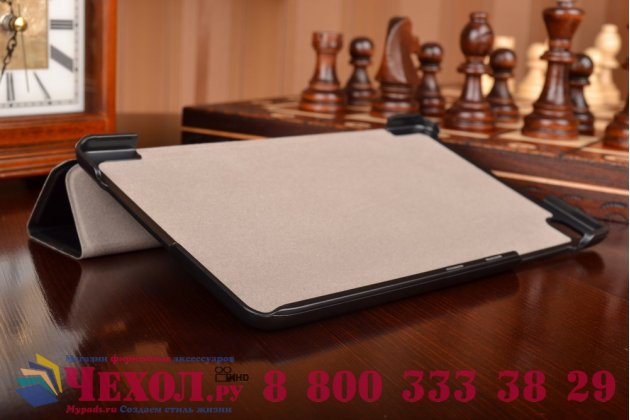 """Фирменный умный чехол самый тонкий в мире для планшета Huawei MediaPad M2 8.0 LTE (M2-801W M2-803L) """"Il Sottile"""" черный кожаный"""