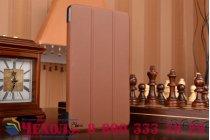 """Фирменный умный чехол самый тонкий в мире для планшета Huawei MediaPad M2 8.0 LTE (M2-801W M2-803L) """"Il Sottile"""" коричневый кожаный"""
