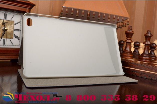 Фирменный оригинальный ультра-тонкий водоотталкивающий чехол-обложка с мульти-подставкой  для Huawei MediaPad M2 8.0 LTE (M2-801W M2-803L) синий кожаный
