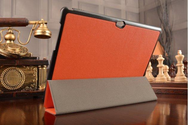 """Фирменный умный тонкий чехол для Huawei MediaPad M2 10.0 M2-A01W/L 10.1  """"Il Sottile"""" оранжевый пластиковый"""