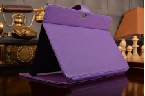 """Фирменный чехол с красивым узором для планшета Huawei MediaPad M2 10.0 M2-A01W/L 10.1"""" фиолетовый натуральная кожа Италия"""