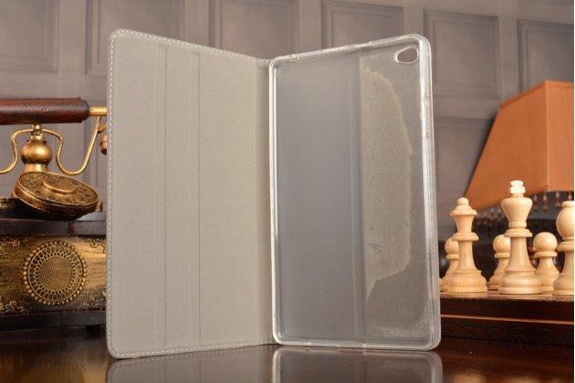 Фирменный умный ультра тонкий чехол бизнес класса для планшета Huawei MediaPad M2 8.0 LTE (M2-801W M2-803L)из качественной импортной кожи в бронзовом цвете