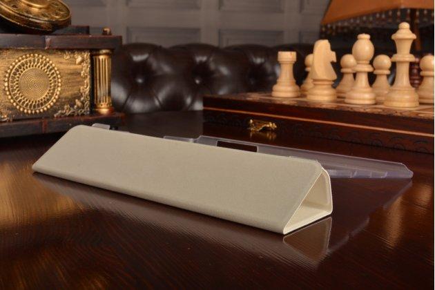Фирменный ультра-тонкий чехол-футляр-книжка для Huawei MediaPad M2 8.0 LTE (M2-801W M2-803L) белый пластиковый