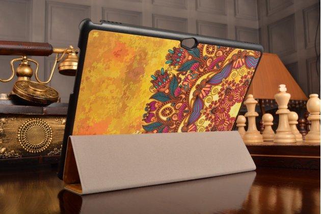 Фирменный уникальный необычный чехол-книжка для Huawei MediaPad M2 10.0 M2-A01W/L 10.1 тематика  Эклектические узоры