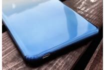 Фирменная ультра-тонкая полимерная задняя панель-чехол-накладка из силикона для Huawei MediaPad M2 7.0 (PLE-703L) прозрачная с эффектом дождя