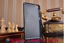 Фирменная ультра-тонкая полимерная из мягкого качественного силикона задняя панель-чехол-накладка для Huawei MediaPad M2 7.0 (PLE-703L) черная