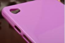 Фирменная ультра-тонкая полимерная из мягкого качественного силикона задняя панель-чехол-накладка для Huawei MediaPad M2 8.0 LTE (M2-801W M2-803L) фиолетовая