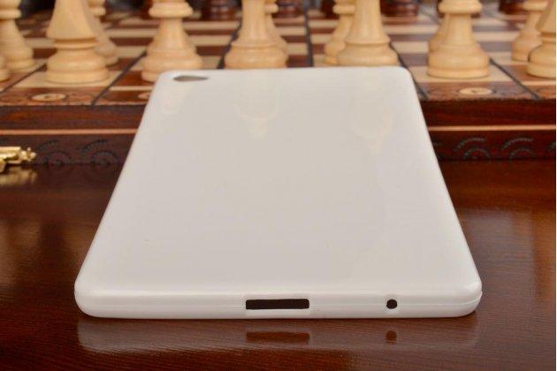 Фирменная ультра-тонкая полимерная из мягкого качественного силикона задняя панель-чехол-накладка для Huawei MediaPad M2 8.0 LTE (M2-801W M2-803L) белая