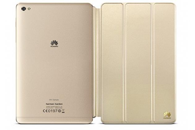 Фирменный оригинальный чехол с логотипом для Huawei MediaPad M2 8.0 LTE (M2-801W M2-803L) Smart Wake золотой