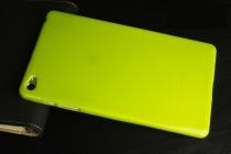 Фирменная ультра-тонкая полимерная из мягкого качественного силикона задняя панель-чехол-накладка для Huawei MediaPad M2 8.0 LTE (M2-801W M2-803L) желтая