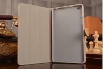 Стёганная кожа в ромбик с узором чехол-обложка для Huawei MediaPad M2 8.0 LTE (M2-801W M2-803L) в золотом цвете кожаный