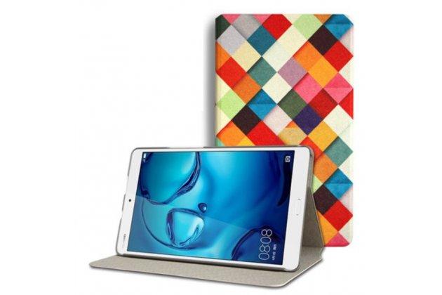 Фирменный эксклюзивный необычный чехол-футляр для Huawei MediaPad M3 8.4 тематика мозаика