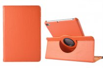 Чехол для планшета Huawei MediaPad M3 8.4 LTE (BTV-W09/DL09) поворотный роторный оборотный оранжевый кожаный