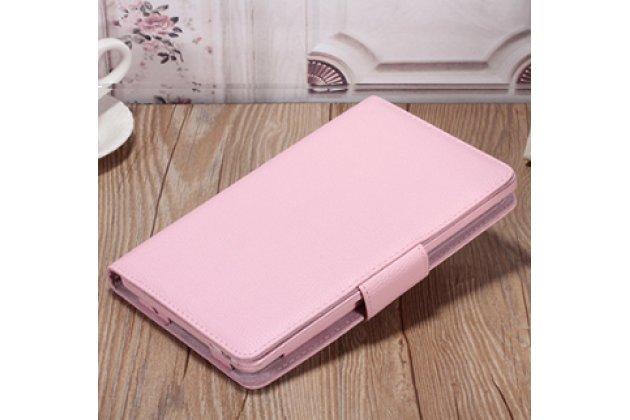 Фирменный чехол со съёмной Bluetooth-клавиатурой для Huawei MediaPad M3 8.4 LTE (BTV-W09/DL09) розовый кожаный + гарантия