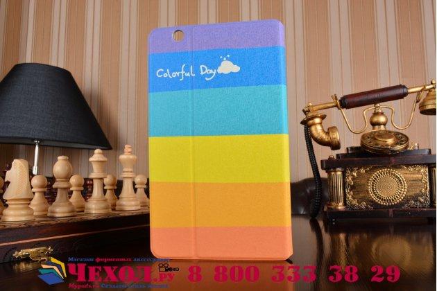 Фирменный эксклюзивный необычный чехол-футляр для Huawei MediaPad M3 8.4 тематика все цвета радуги