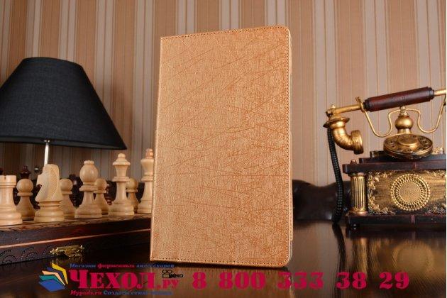 Фирменный чехол-футляр-книжка для Huawei MediaPad M3 8.4 LTE (BTV-W09/DL09) золотой пластиковый
