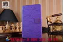Фирменный чехол с красивым узором для планшета Huawei MediaPad M3 8.4 LTE (BTV-W09/DL09) фиолетовый натуральная кожа Италия