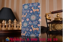 "Фирменный чехол-книжка с безумно красивым рисунком для Huawei MediaPad T1 T1-701u 7.0 тематика""Олени в цветах"""