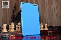 Фирменная ультра-тонкая полимерная из мягкого качественного силикона задняя панель-чехол-накладка для Huawei Mediapad T1 10 LTE 9.6  голубая