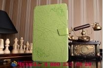 Фирменный чехол с красивым узором для планшета Huawei MediaPad T2 10.0 Pro/ T2 10.0 Pro LTE (FDR-A01w\A03L) зеленый натуральная кожа Италия