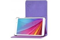 Фирменный чехол с красивым узором для планшета Huawei MediaPad T2 10.0 Pro/ T2 10.0 Pro LTE (FDR-A01w\A03L) фиолетовый натуральная кожа Италия