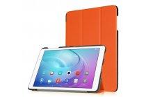 """Фирменный умный чехол самый тонкий в мире для планшета Huawei MediaPad T2 10.0 Pro/ T2 10.0 Pro LTE (FDR-A01w\A03L) """"Il Sottile"""" оранжевый кожаный"""