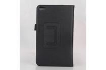 Фирменный оригинальный чехол обложка с подставкой для Huawei Mediapad T2 7.0 Pro LTE черный кожаный