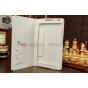 Фирменный чехол-футляр для Huawei MediaPad M1 8.0 LTE белый кожаный..
