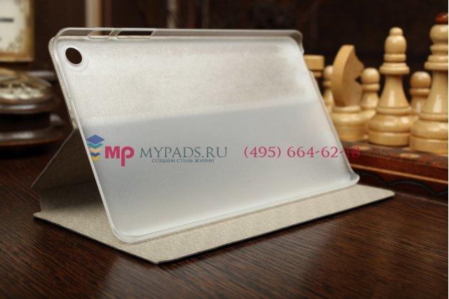 """Фирменный оригинальный умный чехол книжка для Huawei MediaPad M1 8.0 LTE """"Il Sottile"""" черный пластиковый"""