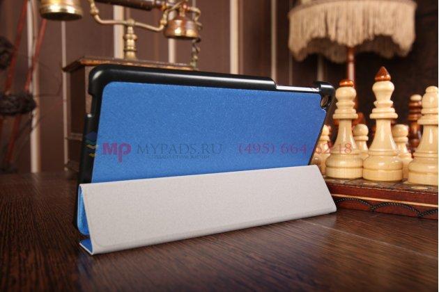 """Фирменный умный чехол самый тонкий в мире для Huawei Mediapad M1 """"Il Sottile"""" бирюзовый пластиковый Италия"""