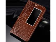 Фирменный роскошный эксклюзивный чехол с фактурной прошивкой рельефа кожи крокодила для Huawei Mediapad X2 кор..