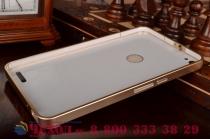 Элитная задняя панель-крышка премиум-класса на металлической основе обтянутой фактурной рельефной  кожей крокодила для Huawei Mediapad X2 брутальный коричневый