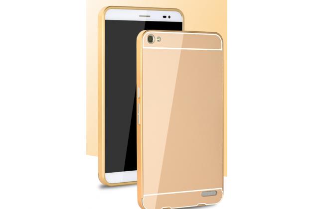 """Фирменная металлическая задняя панель-крышка-накладка из тончайшего облегченного авиационного алюминия для Huawei Mediapad X2 7.0"""" / Huawei Mediapad X1 7.0 золотая"""