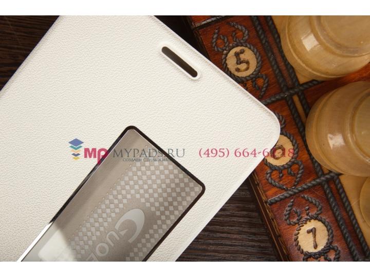 Фирменный чехол-книжка с окном для входящих вызовов для Huawei Mediapad X1/ X2 7,0 LTE белый..