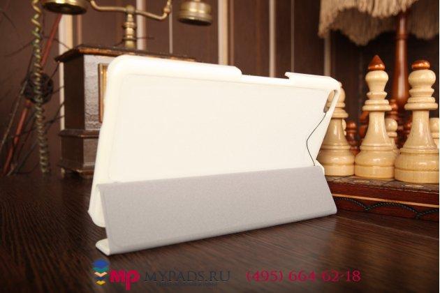 """Фирменный умный чехол-футляр самый тонкий в мире для Huawei Mediapad X1/ X2 7.0 LTE """"Il Sottile"""" белый пластиковый Италия"""