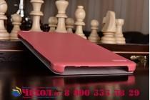 """Фирменный умный чехол самый тонкий в мире для Huawei Mediapad X1/ X2 """"Il Sottile"""" красный пластиковый Италия"""
